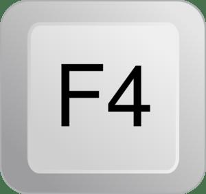 F4 key