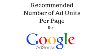 Number of AdSense Units Per Page